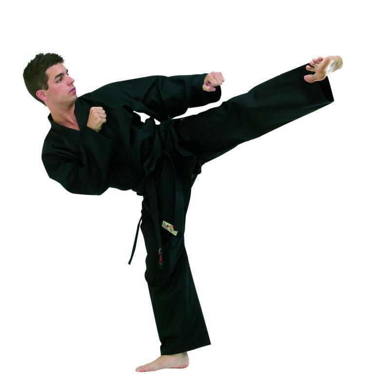 Tenue de hapkido noire fuji mae 10270 zoom